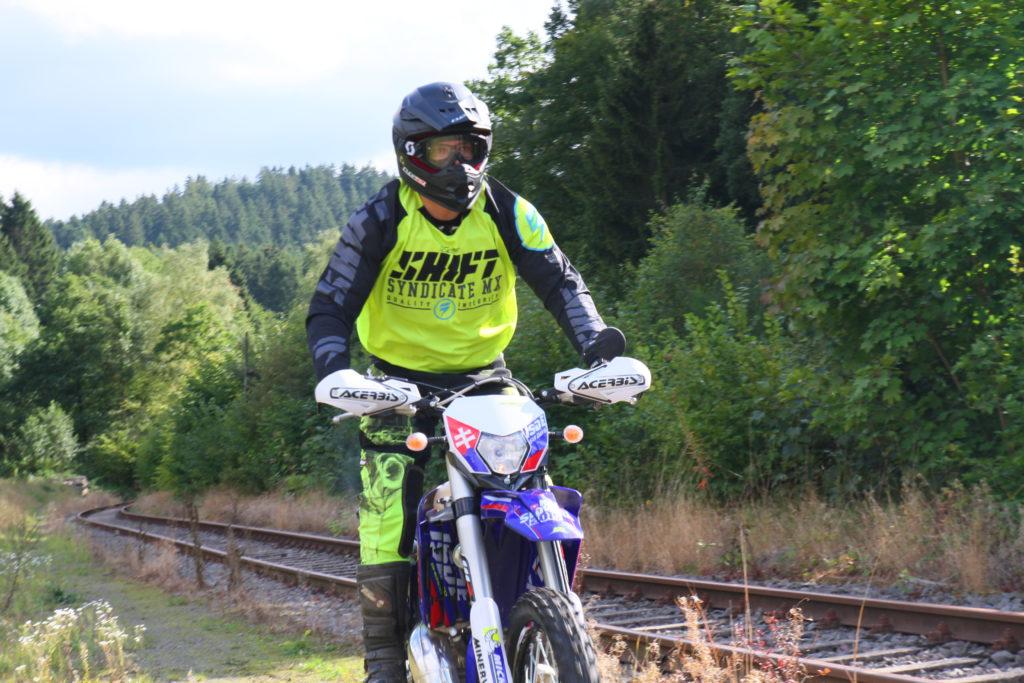 Markus Kowal auf Motorrad